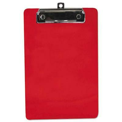 Saunders 00518 Plastic Clipboard 12 Capacity 6 X 9 Sheets Red