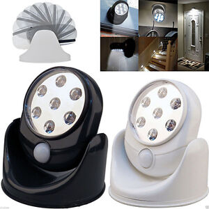 Motion Activated Cordless Sensor LED Light Indoor Outdoor 360 Rotatable Gard