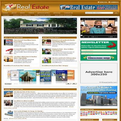 Established Real Estate Affiliate Website Turnkey Business Free Hosting