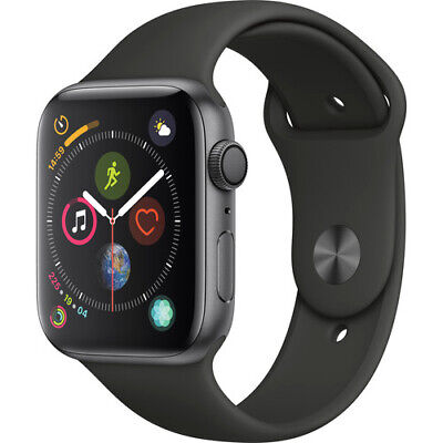 Apple Watch Series 4 44mm Space Gray Aluminum Case with Black Sport Band (GPS)
