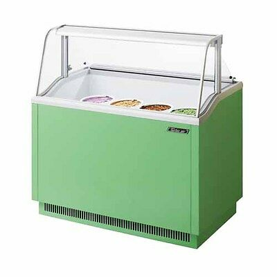 Turbo Air Tidc-47g 47-inch Ice Cream Dipping Cabinet Green