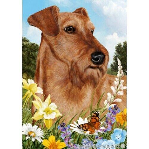 Summer House Flag - Irish Terrier 18220