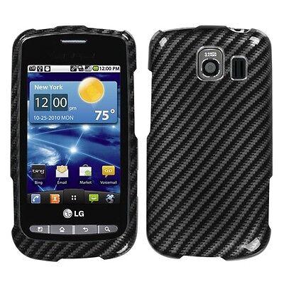 Racing Fiber Hard Case Snap on Cover LG Vortex VS660 (Fiber Hard Case Snap)