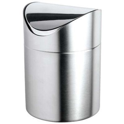 Stainless Steel Tabletop Waste Bin 4-34diam.x6-58h