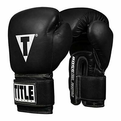 """Black Title Boxing 3.5/"""" Authentic Detailed Mini Pro Fight Lace Up Gloves"""