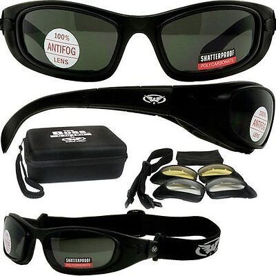 Sunglasses to Goggle Removable Arms with Interchangable Strap 3 Lens Colors (Sunglasses With Removable Lenses)
