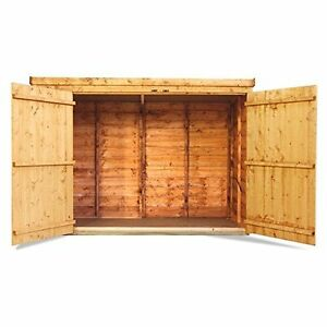 Wooden Bike Storage Shed Garden Bicycle Store Outdoor Tools Patio Cabinet Box