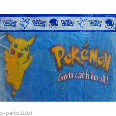 POKEMON VINTAGE CREPE PAPER STREAMER ~ Birthday Party Supplies Decorations - Crepe Paper Decorations