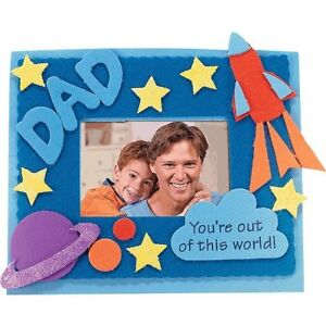 CRAFT-Fathers-Day-Dad-Foam-Picture-Frame-Magnetic-Craft-Kit-Qty-1