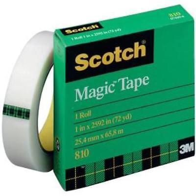 3m Scotch Transparent Magic Tape - 1 Width X 72 Yd Length - 3 Core - Writable