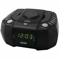 Jensen Jcr-310 Dual Alarm Clock Am/fm Stereo Radio With Top Loading Cd Player