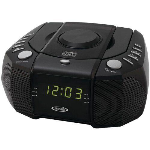 Jensen Jcr-310 Dual Alarm Clock Am/fm Stereo Radio