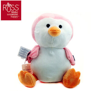 Stuffed-Animals-Plush-Toys-Pink-Penguin-Russ-Toy-PERFECT-GIFT-New