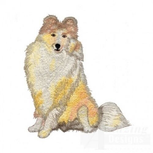 Embroidered Long-Sleeved T-Shirt - Shetland Sheepdog Sheltie AD020
