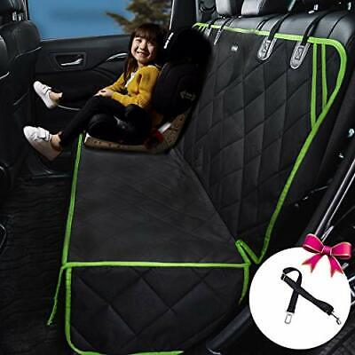 Dog Car Seat Cover Protector Waterproof Nonslip Green Edge 56 X50  - $36.25