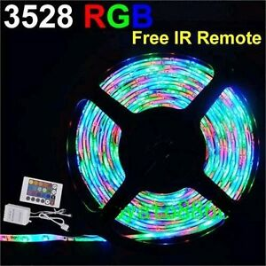 15ft 5m RGB Led Strip light + Remote+controller+PWR Suppy NEW
