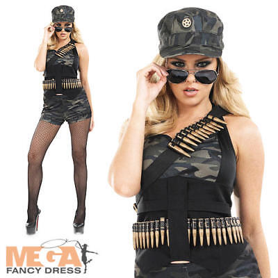 Sexy Hot Pants Army Ladies Fancy Dress Military - Sexy Army Uniform