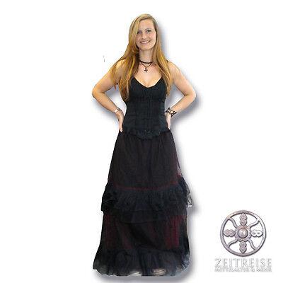 hwarz Rot Tüll Petticoat Mittelalter Tüllrock Hexe Kostüm (Tüll Hexe Kostüm)