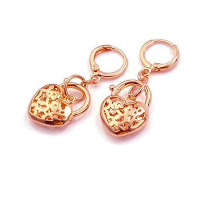 !Stunning! Jewerly ARAB FASHION 9K GOLD FILLED HEART EARRINGS SET