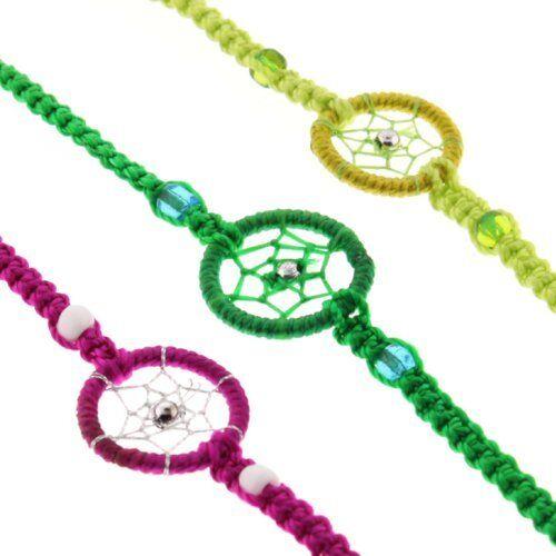 Dream Catcher Friendship Bracelets 50 Pack Lot Bag Assorted Colors Fair Trade