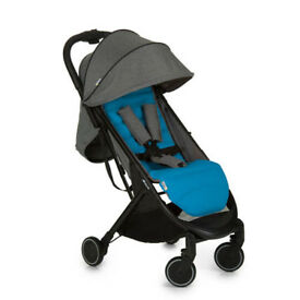 brand new in box hauck Swift lightweight buggy stroller pram pushchair blue and grey from bierth -3