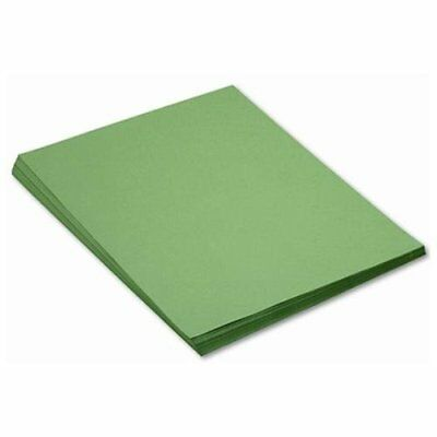 "Pacon Sunworks Groundwood Construction Paper - 24"" X 18"" - Holiday Green (8017)"