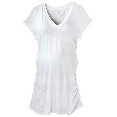 New Womens Maternity White Top Tee V Neck Shirt Liz Lange Nwt Size Sz M L Xl