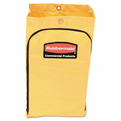 Rubbermaid 1966719 Zippered Vinyl Cleaning Cart Bag Yellow Rcp1966719