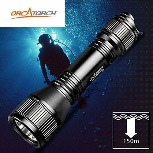 ORCATORCH D550 Upgraded Version Dive Light 1000 Lumens Scuba Flashlight