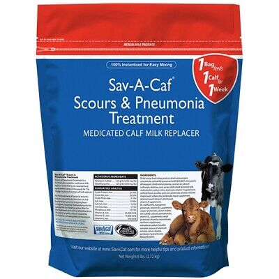 Milk Products Sav-a-caf Scours And Pneumonia Treatment Med Milk Replacer 6lb.