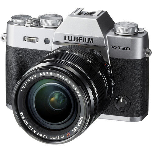 Fujifilm X-T20 Mirrorless Digital Camera - Silver with 18-55mm Lens