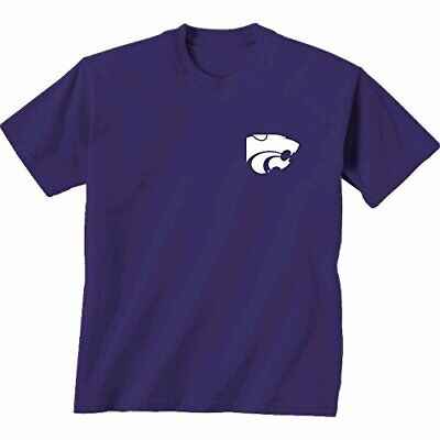 NCAA Kansas State Wildcats Adult Unisex Initial Pattern Short sleeve, Large, ... Ncaa Kansas State Wildcats Pattern
