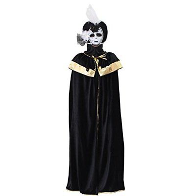 DOMINO VENEZIA NERO costume CARNEVALE completo uomo o donna PEGASUS - Venezia Carnevale Kostüm