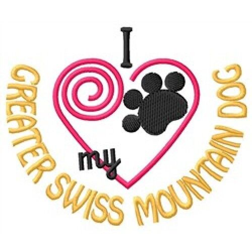 """I """"Heart"""" My Greater Swiss Mountain Dog Sweatshirt 1438-2 Sizes S - XXL"""