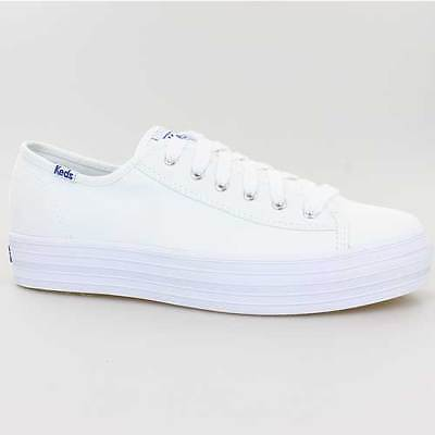 Schuhe Keds Schuh (KEDS DAMEN SCHUHE TRIPLE KICK CORE WHITE WEISS MONO CHROME CANVAS WF57306)
