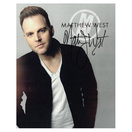 Matthew West signed 8X10 Photo (Christian Music Artist– Singer/songwriter)