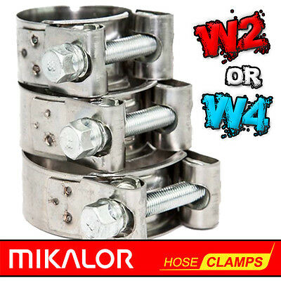 MIKALOR W2 & W4 Stainless Steel Hose Clamps | Supra | Exhaust | T Bolt