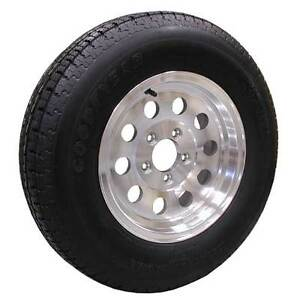 ST225 75 R15 - TRAILER TIRE on ALUMINUM RIM - CLENTEC