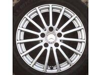 "Set 4 Genuine Mercedes Benz w205 16"" Alloy Wheels C Class 15 spoke w204 205 tyre"