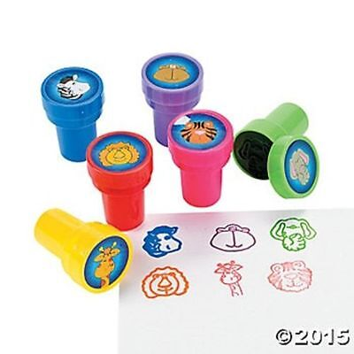 6 Zoo Animal Jungle Self Ink Stampers Stamps Crafts Kids Birthday Party Favors  - Zoo Animal Crafts