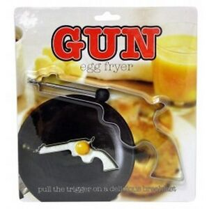 Gun Egg Fryer Stainless Steel Pistol Mold Cookie Cutter Toast Pancake Waffle Fun