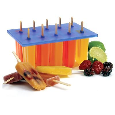 Norpro Frozen Ice Pop Maker with 24 Wooden Sticks - Makes 10 Popsicles