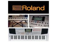 LEARNING PIANO? Roland EM-25 Quality Creative Keyboard BOXED + power lead + manual + music stand