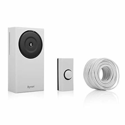 Byron 1217 wired doorbell kit – Classic sound – White