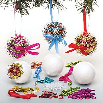 Baker Ross Sequin Bauble Kits (Pack Of 3) For Kids Christmas Crafts And Decorati (Baker Ross Halloween Crafts)