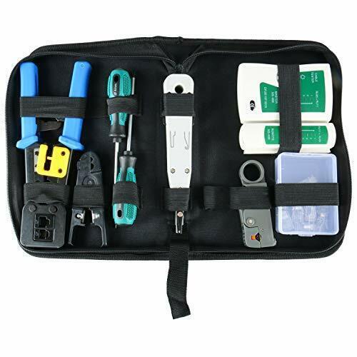 YaeTek Network Tool Kit Set Cable Tester Repair Tools RJ11 RJ45 Cat5 Cat6