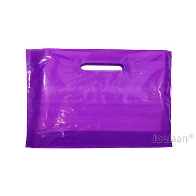 100 Purple Plastic Carrier Bags 22