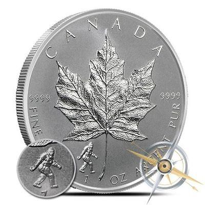 1 Oz Silver Proof Coin (2016 1 oz Bigfoot Privy Silver Maple Leaf Reverse Proof Coin 5 dollars Sasquatch )