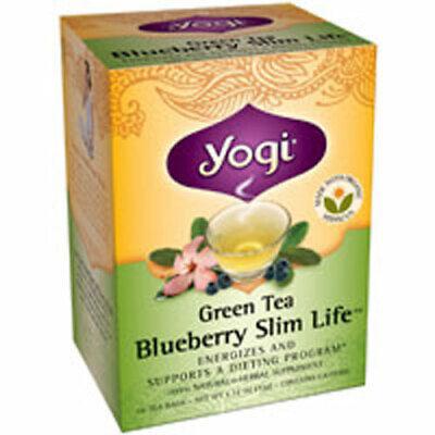 Té Verde Blueberry Slim Life 16 Bolsas por Yogi