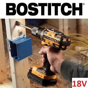 "NEW BOSTITCH 18V CORDLESS DRILL KIT 1/2"" DRILL/DRIVER KIT 107700001"